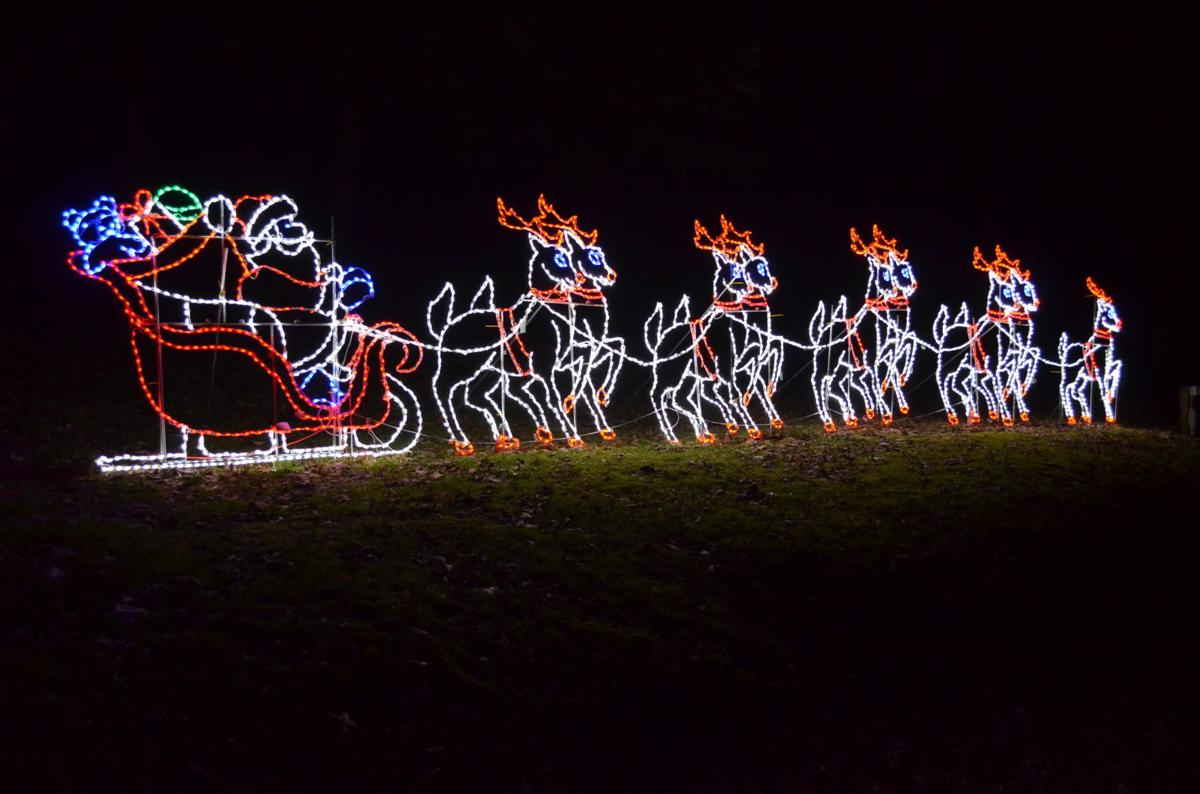 Celebration of Lights and Santa's sleigh