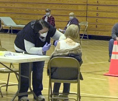Preston Senior Citizen gets COVID vaccine