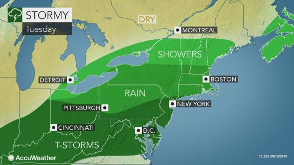Overall Tuesday rain map