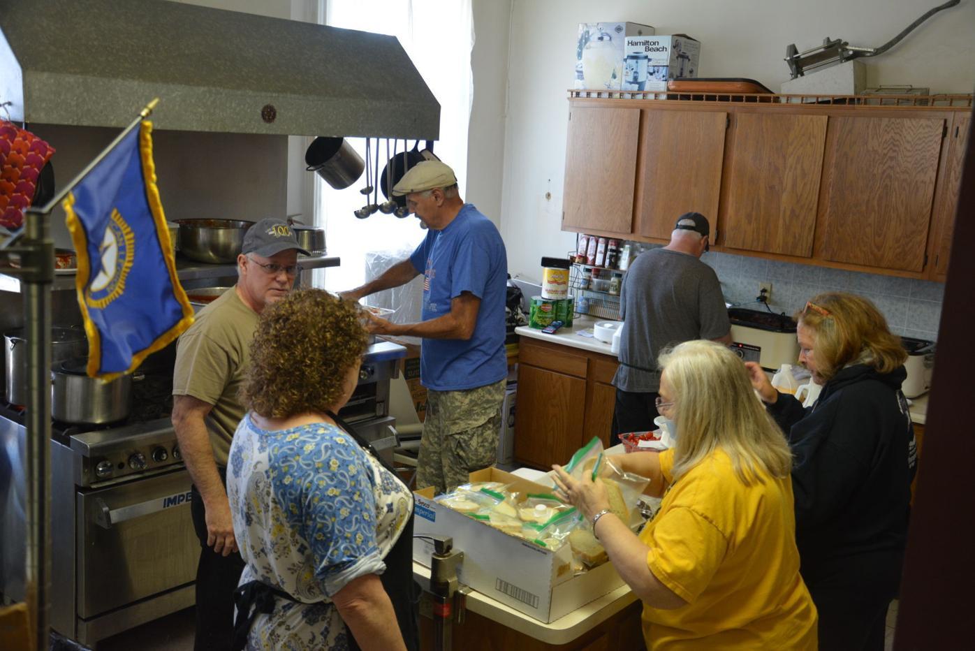 Preparing meals
