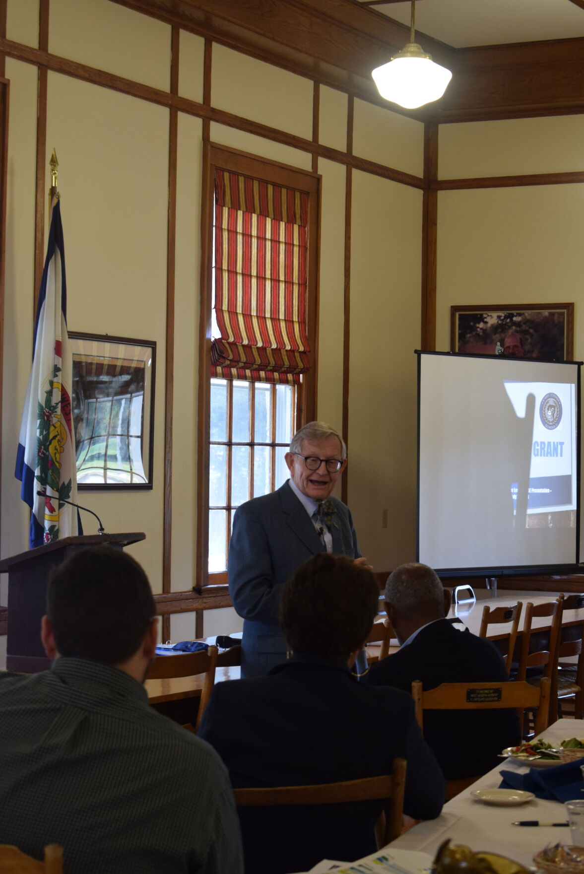 WVU President Dr. Gordon Gee meets with Lewis County education stakeholders