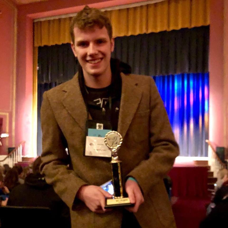 Derek Hess and trophy