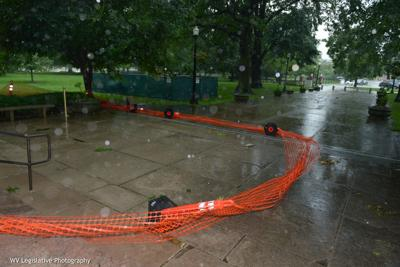 Rain at capitol