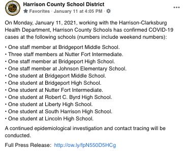 Harrison Monday Announcement