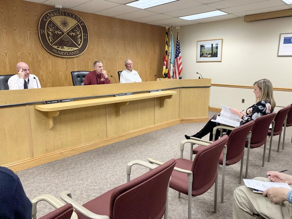 Garrett County commissioners and Deborah Carpenter