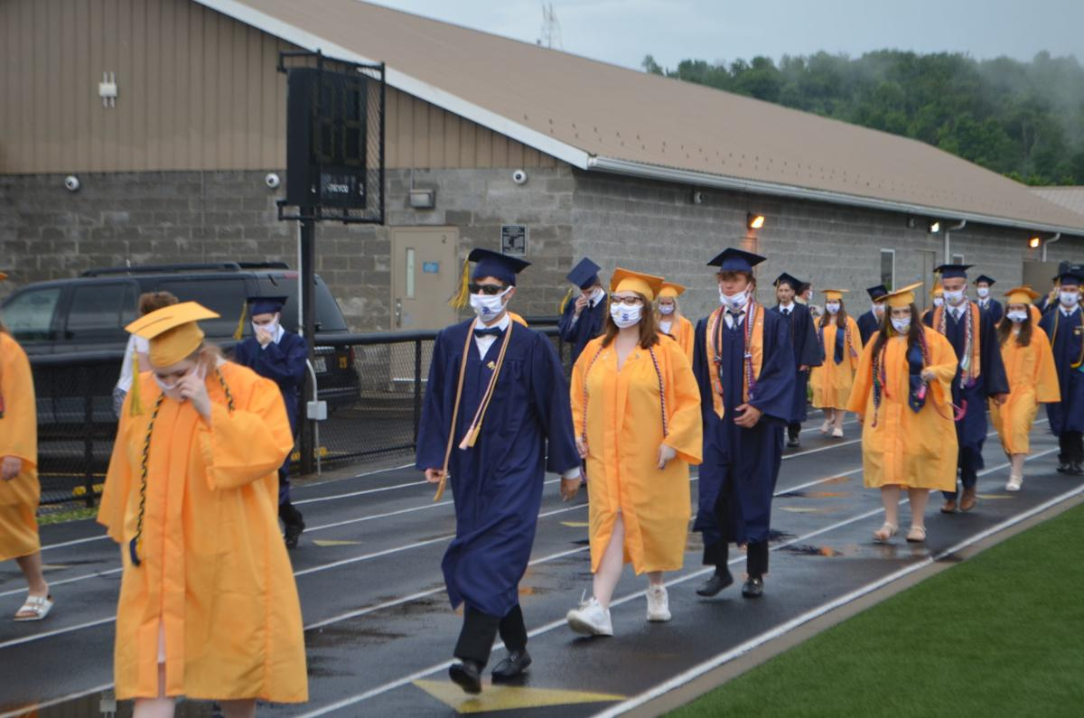 EFHS 2020 graduation - lining up