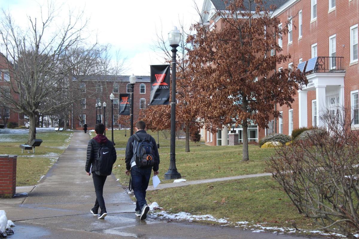 Wesleyan students walking (copy)