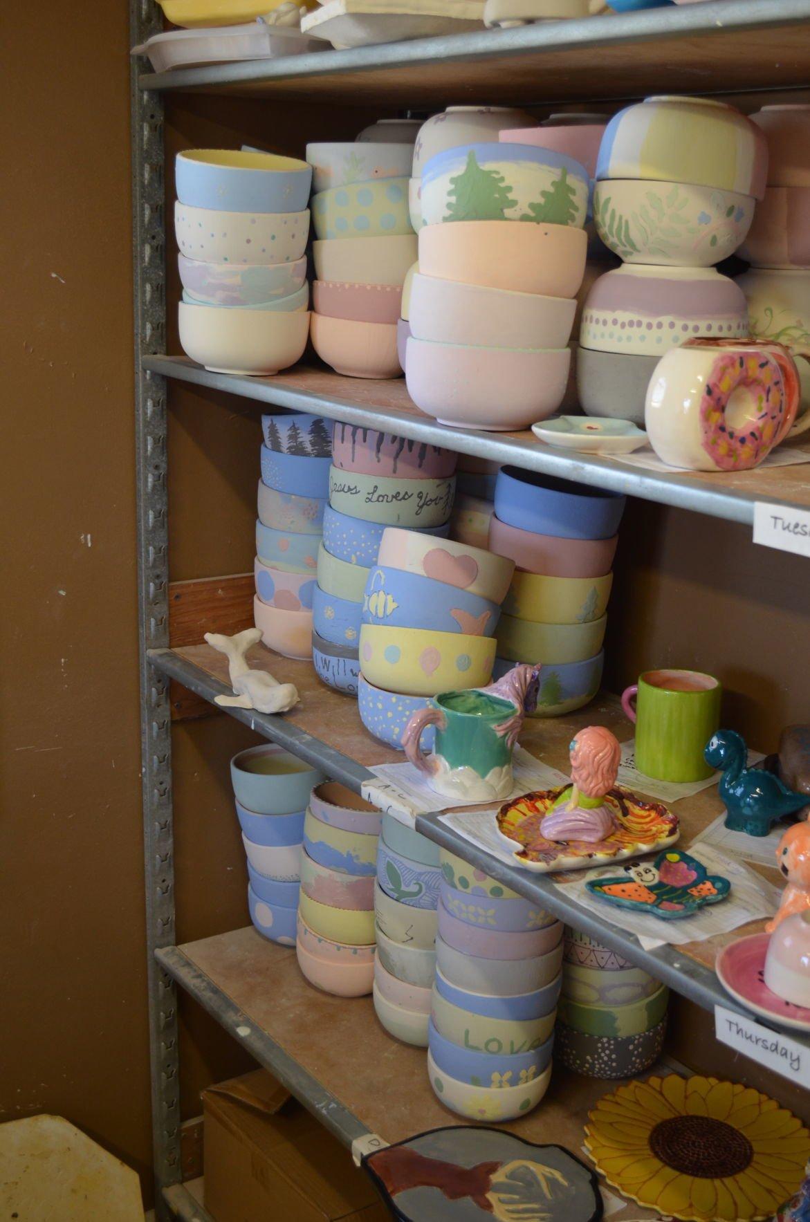 Empty Bowls bowls