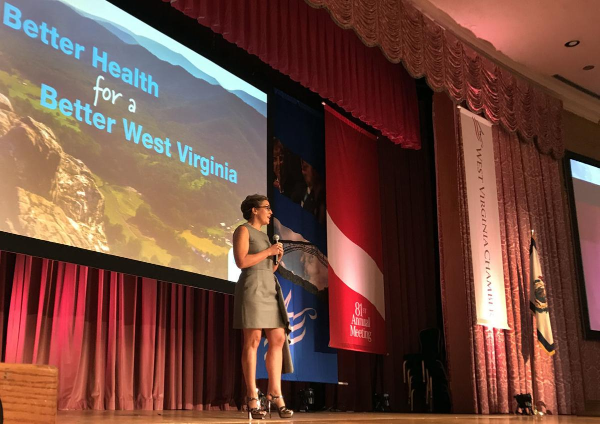 Mylan CEO Heather Bresch at the 2017 WV Chamber Business Summit