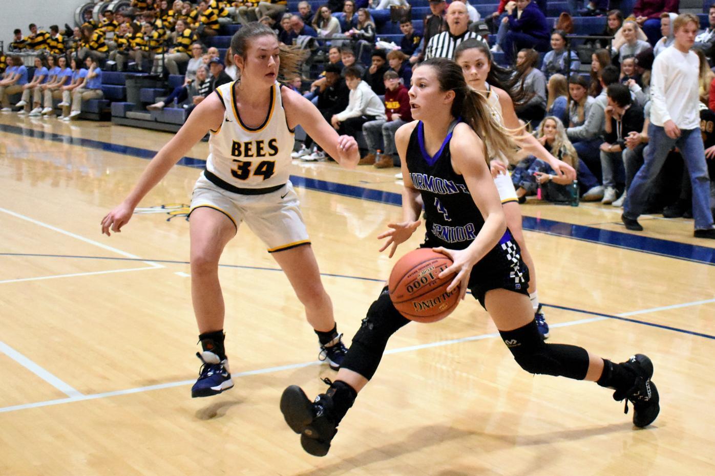 Fairmont Senior's Emily Starn steps into a shot