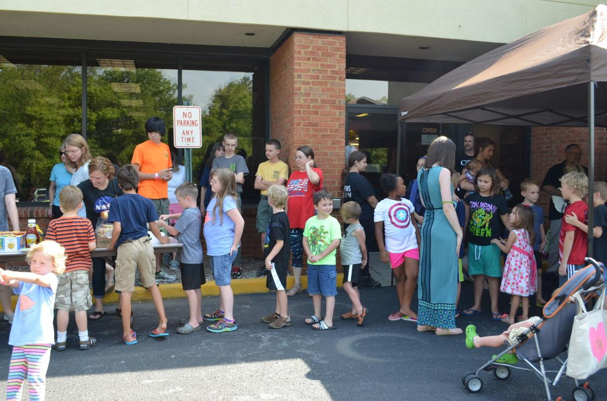 Bridgeport reading program party kids waiting for food