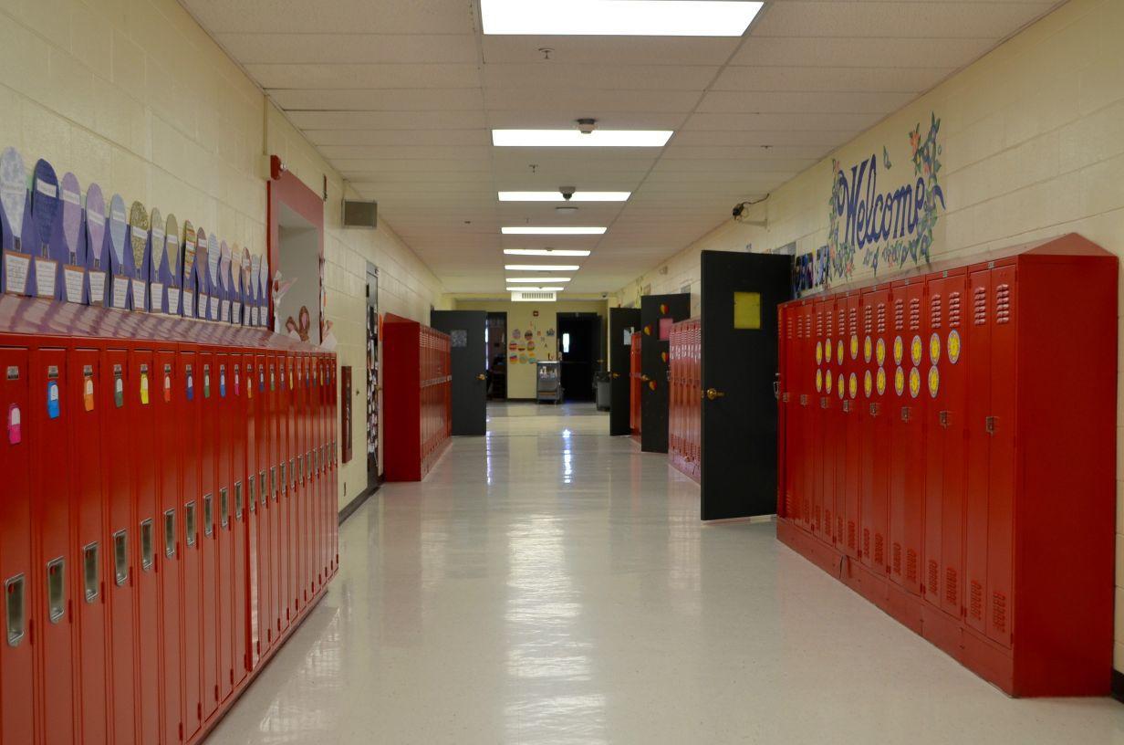 Empty halls at school