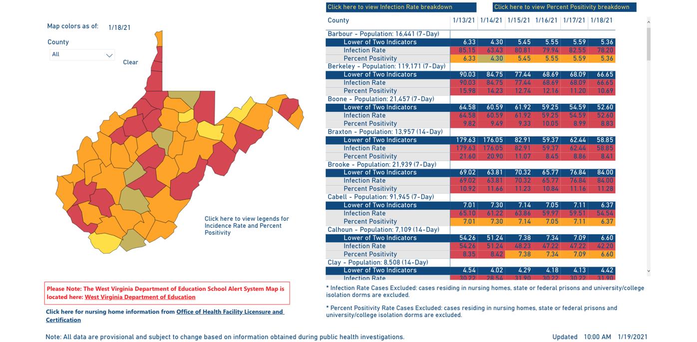 County Alert Map 01-19