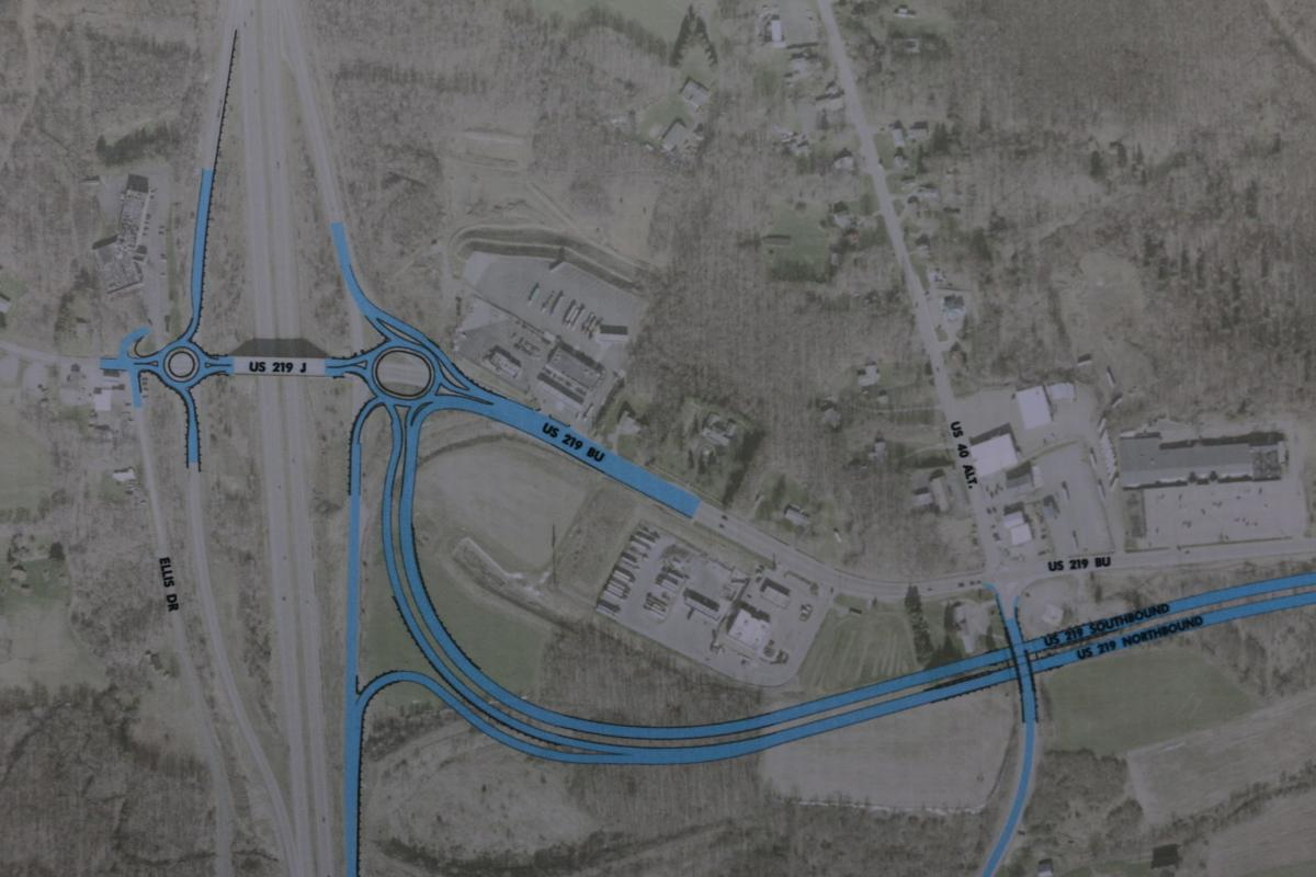 Construction to begin on long-awaited U.S. 219 project ... on map of route 10, map of i 76, map of old highway 40, map of atlantic city expressway, map of i-95, map of i 695, map of i 83, map of ca 49, map of i 74, map of interstate i-40, map of i-40 united states, map of interstate 40 arizona, map of sr 16,