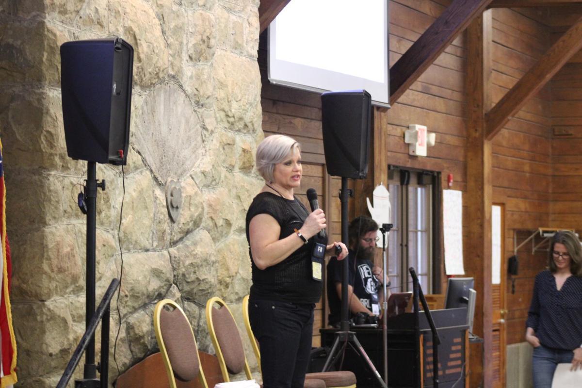 Leah Summers speaking
