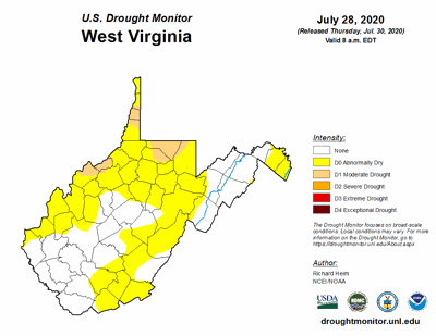 July Drought Map 07282020