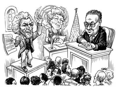 Douglass, Roosevelt, Marshall to visit