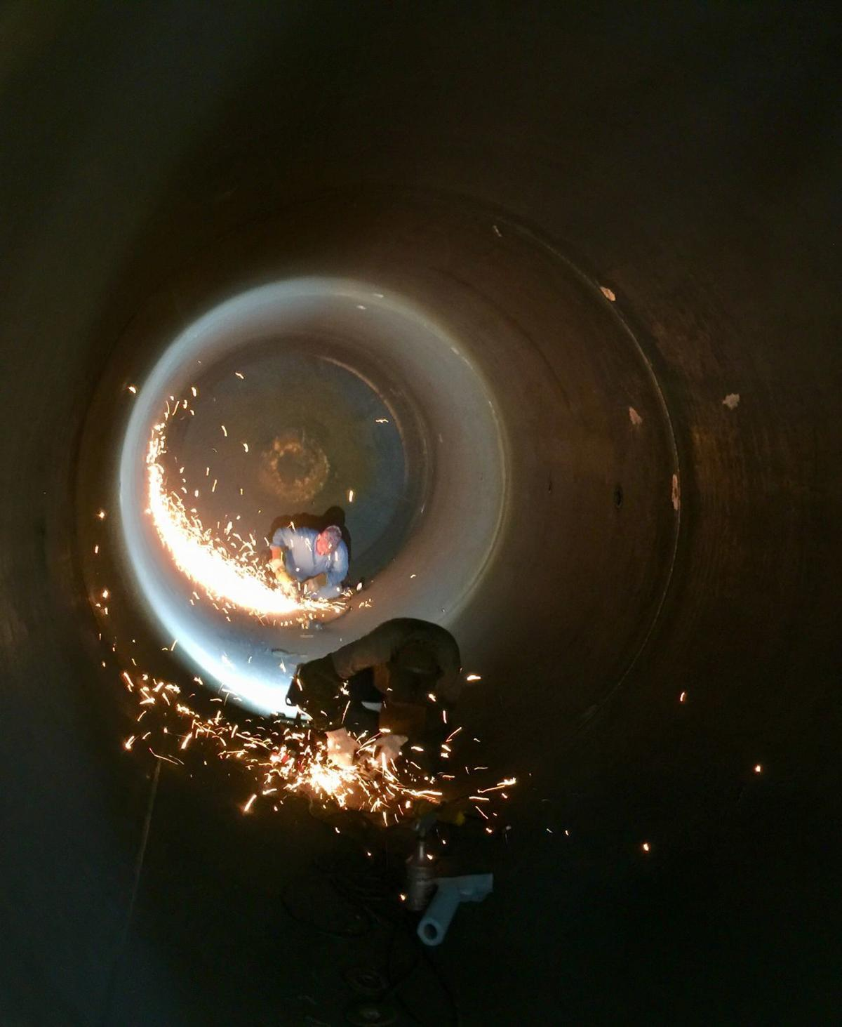 Precise welding at Sistersville Tank Works
