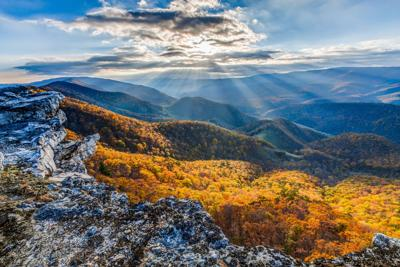 """""""Autumn Light on North Fork Mountain"""" by Bob Stough"""