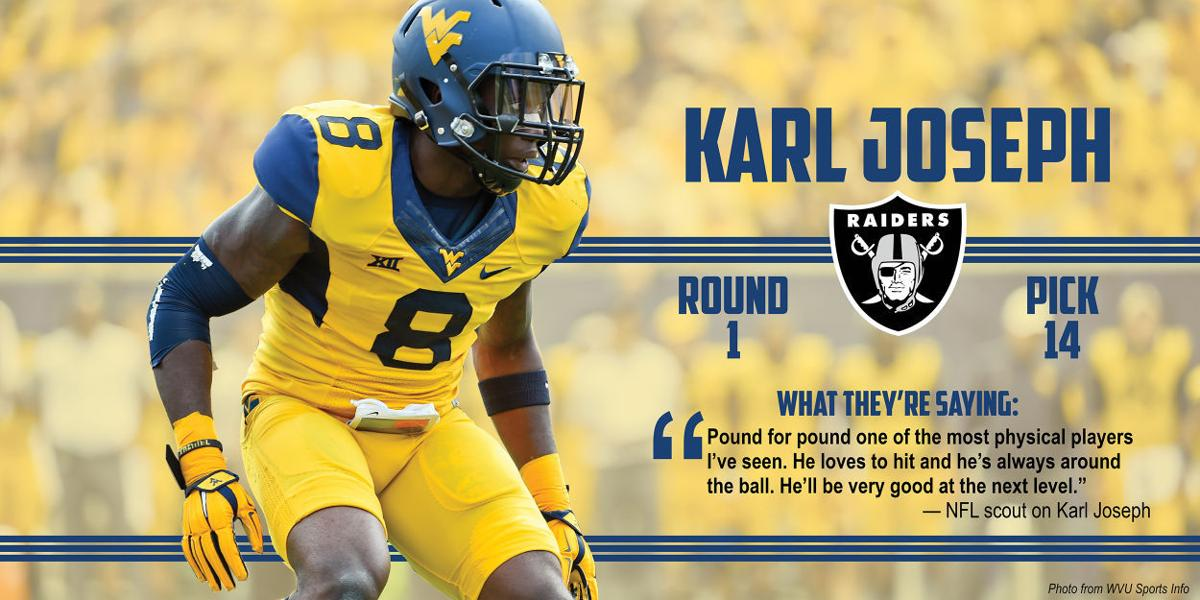size 40 c18bc 2109d Joseph drafted by Raiders 14th overall | WVU SPORTS | wvnews.com
