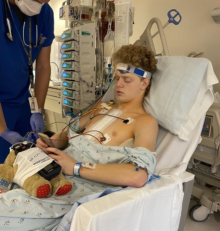 Sam Romano recovers from heart transplant