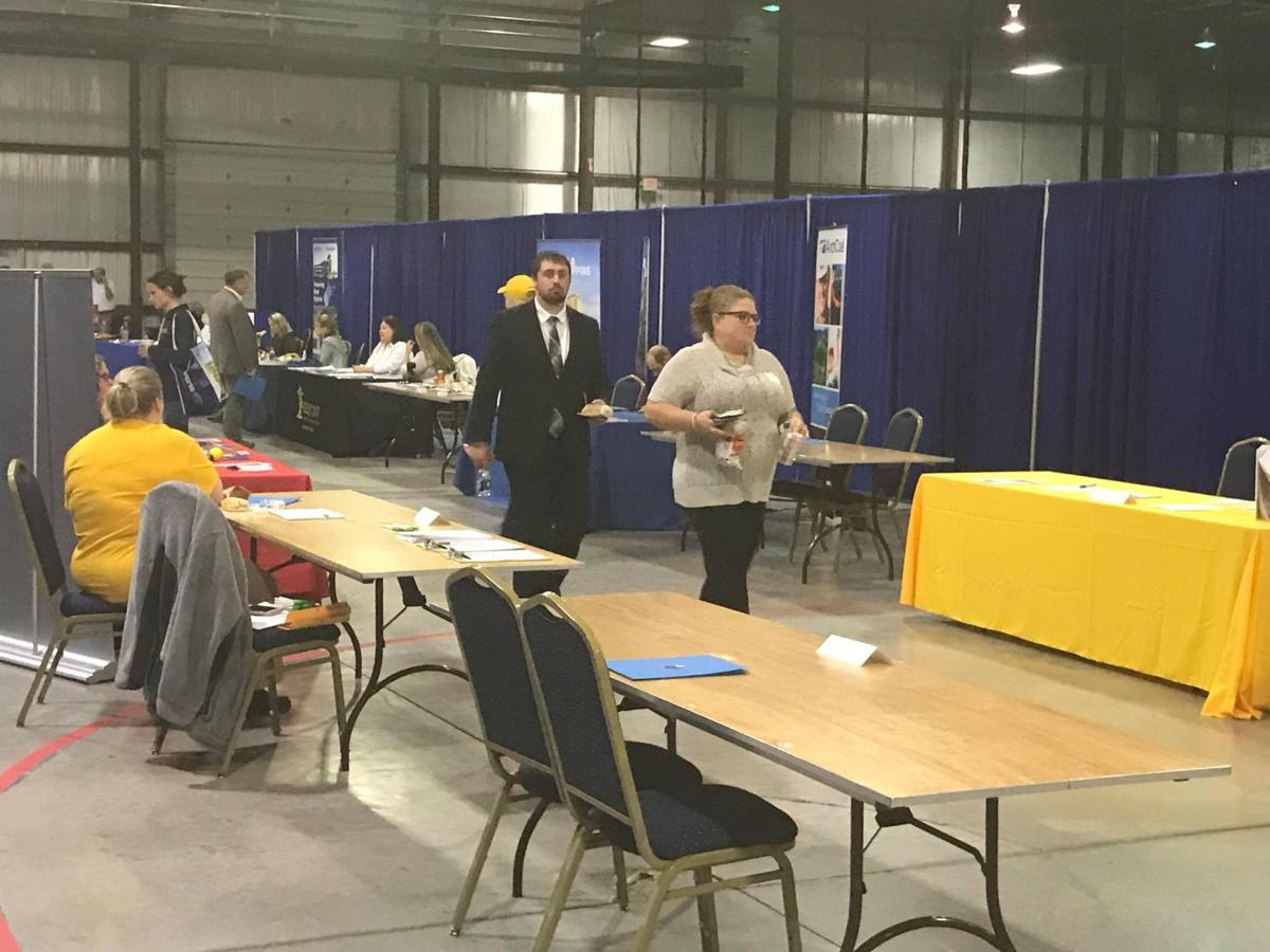 Booths at the 2018 Operation Welcome Home Job Fair