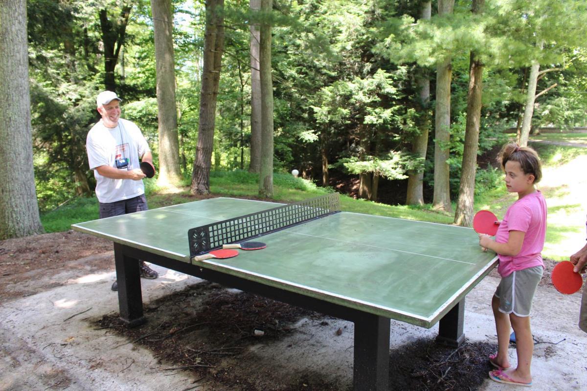 Bruce Loyd plays Ping-Pong