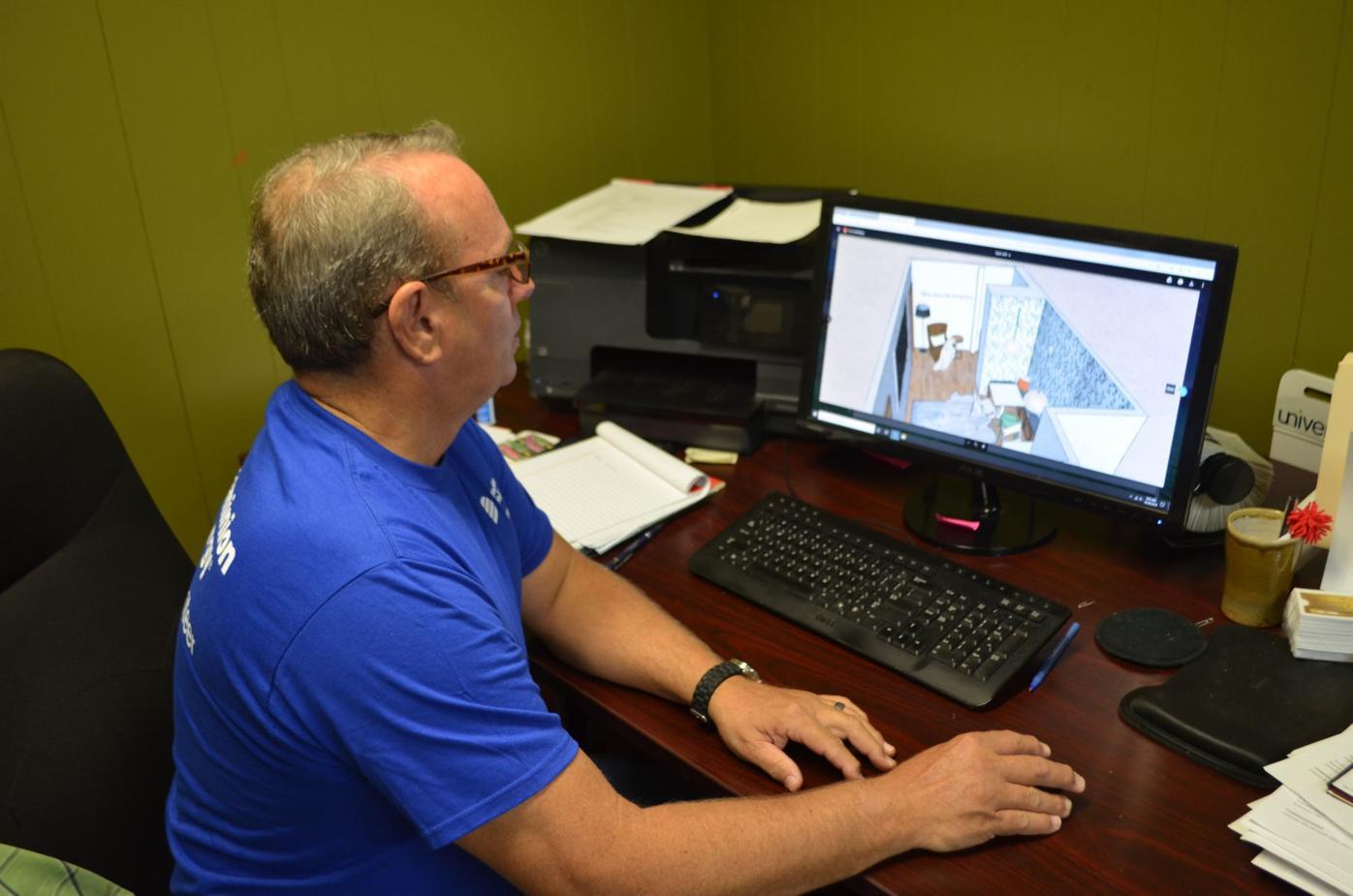 Jarman at desk