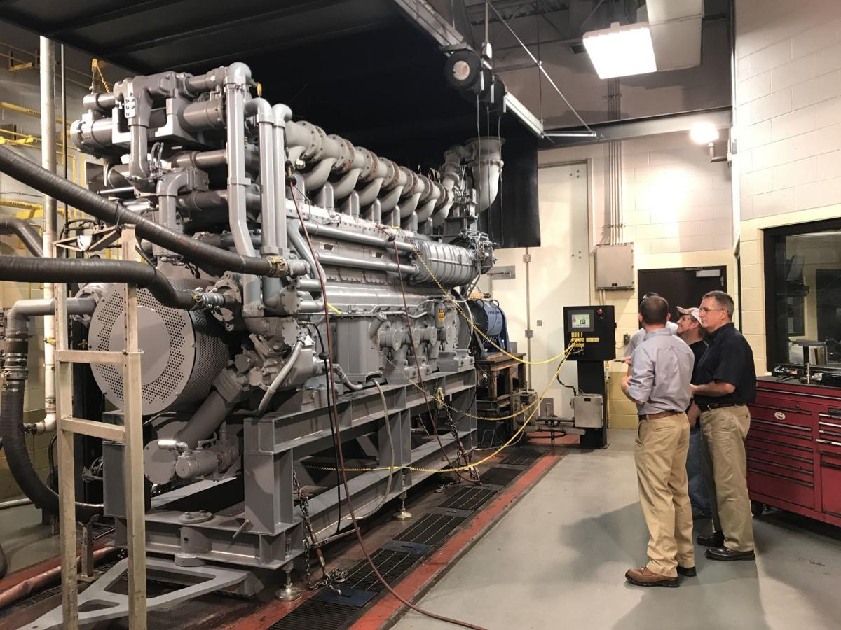 Walker Machinery gas compressor station engine test room