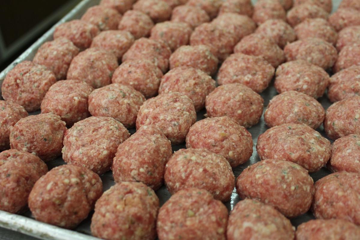 Meatball close up