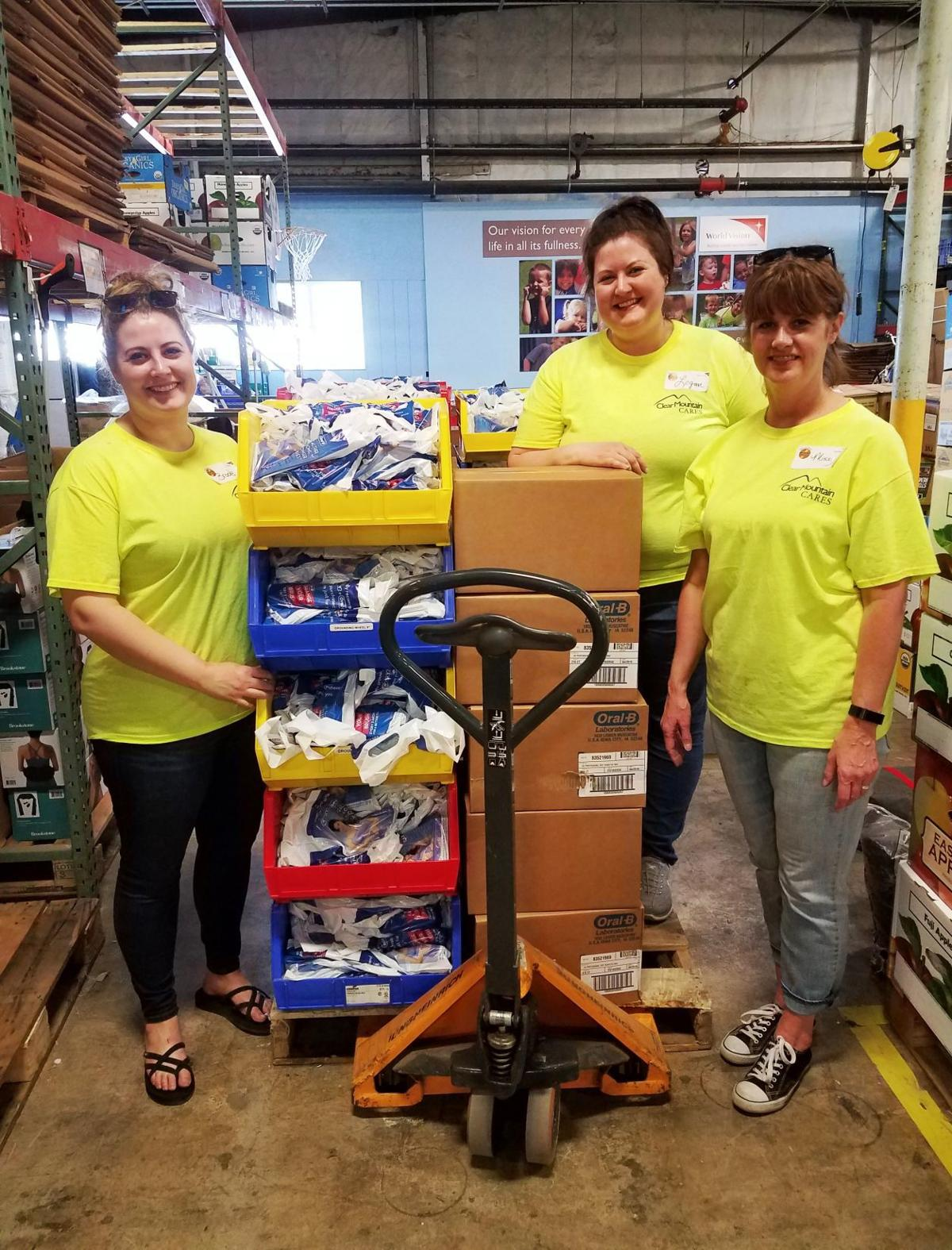 Clear Mountain Cares - Melissa, Logan and Brooke