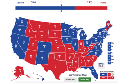 Elections map