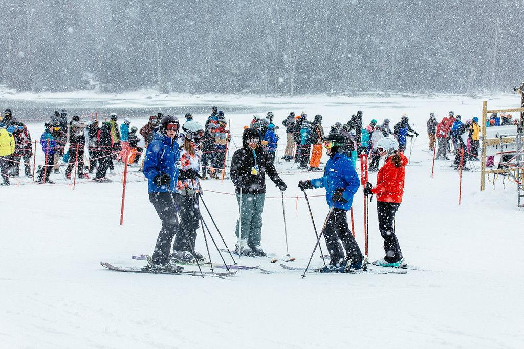 Snowshoe crowd