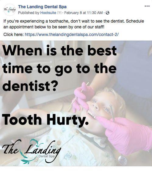 Landing dental spa facebook