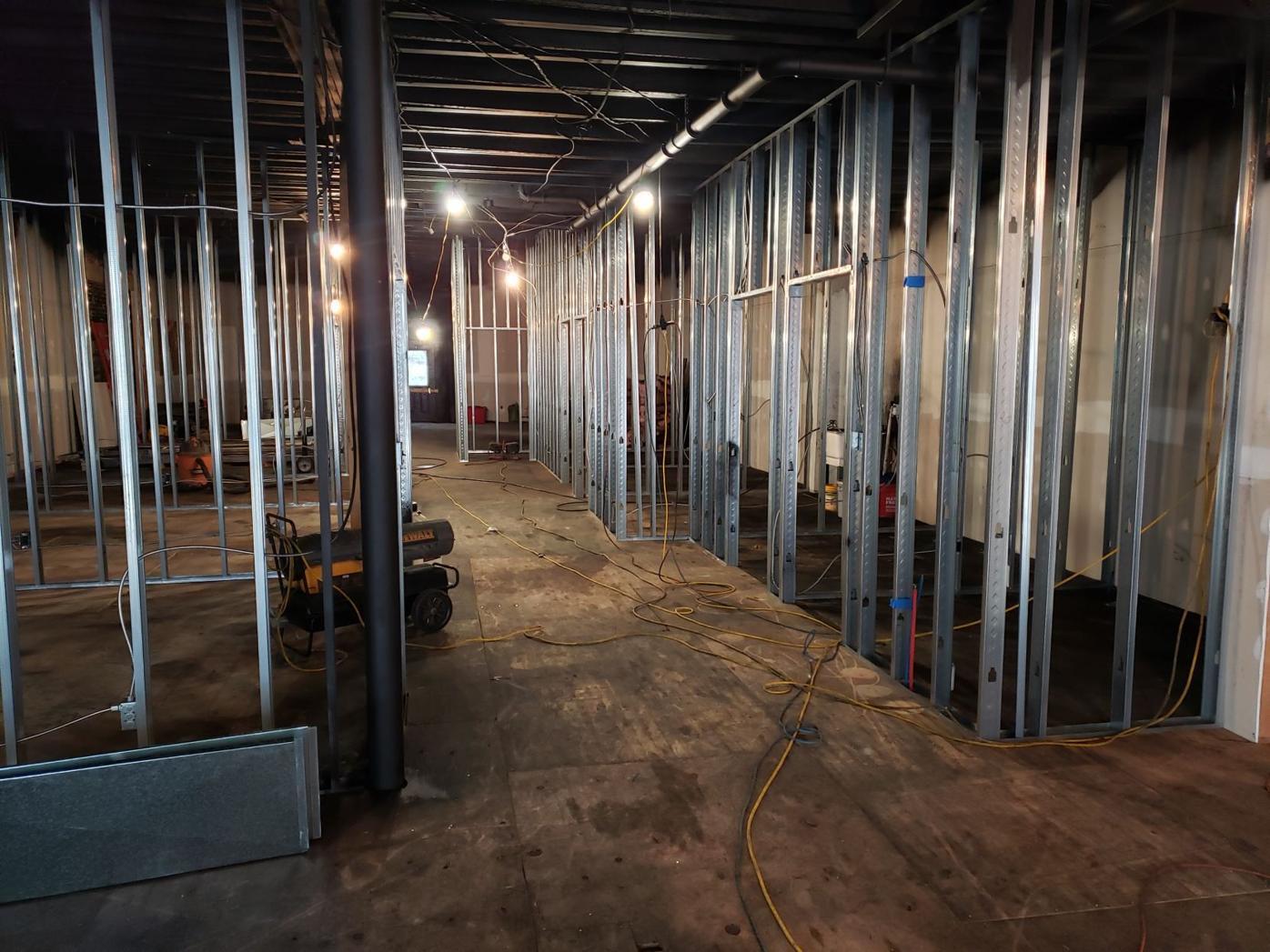 Inside Adams Street renovation