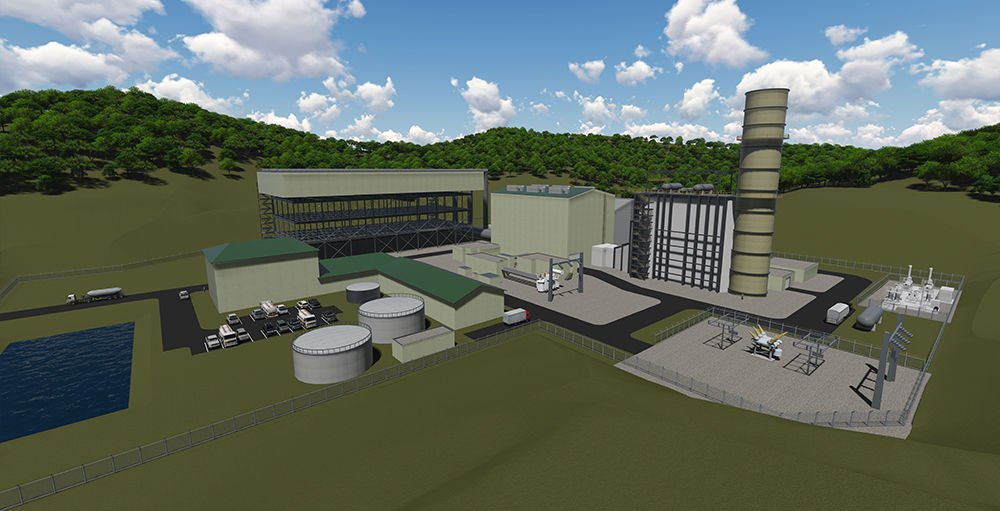 Artist rendering of Harrison County Power Plant