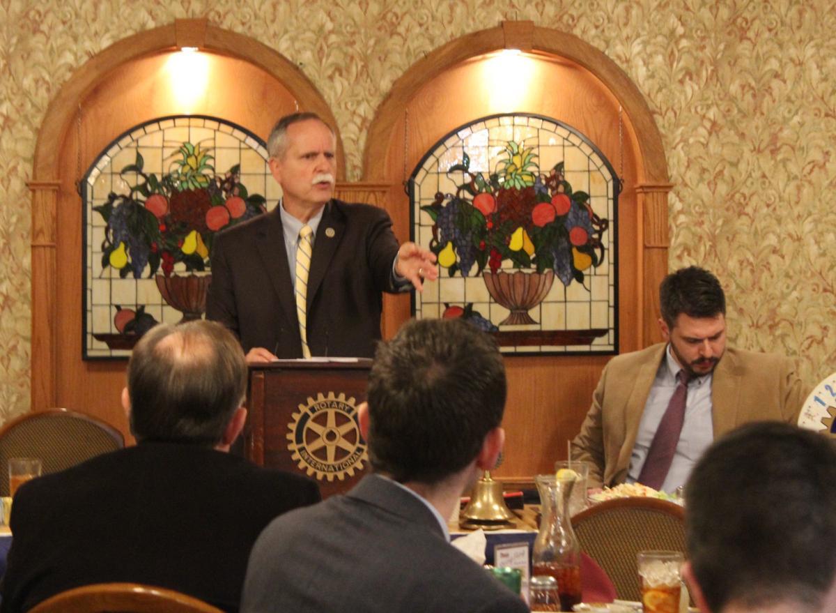 Speaking at Rotary