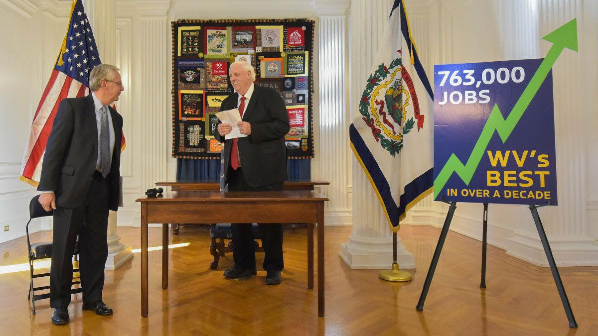 Gov. Justice, Chamber leader announce jobs high mark
