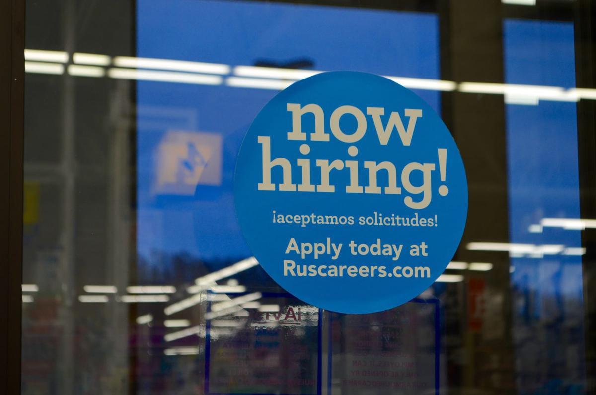 Seasonal hiring sign