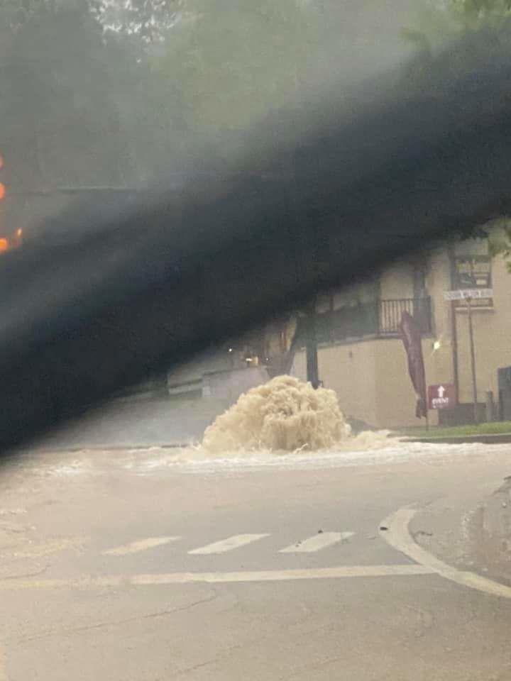 Locust Avenue storm drain