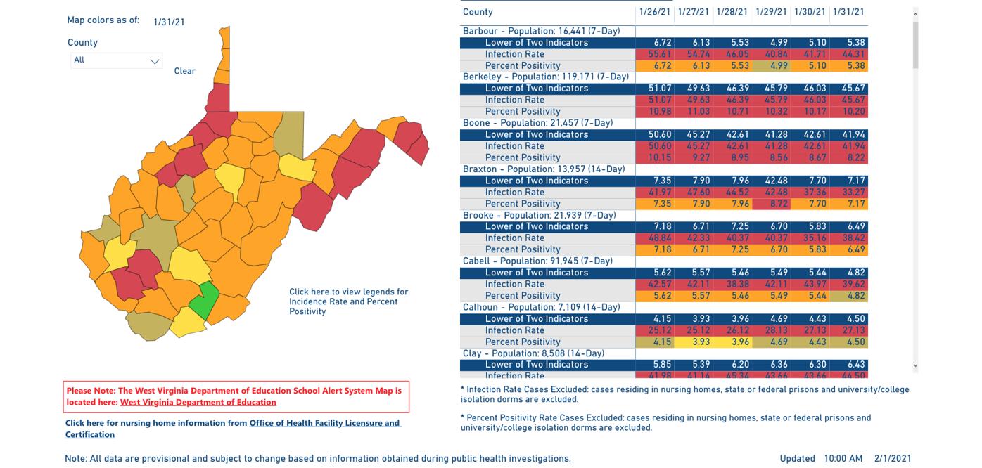 County Alert Map 02-01