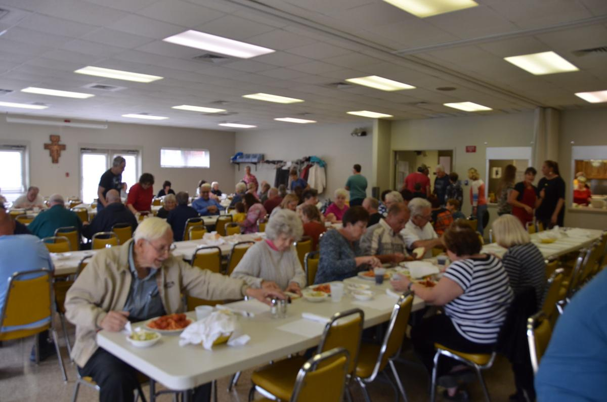 Busy parish center