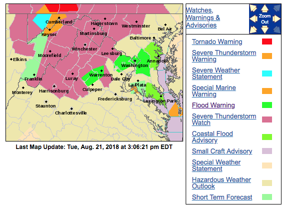 Update: Severe thunderstorm watch issued for Eastern Panhandle ...