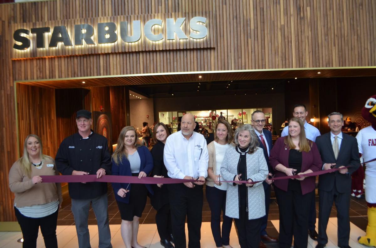 Starbucks ribbon cutting