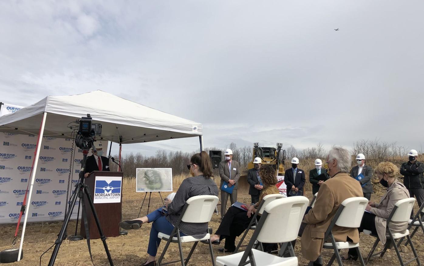 Morgantown Municipal Airport runway extension groundbreaking ceremony
