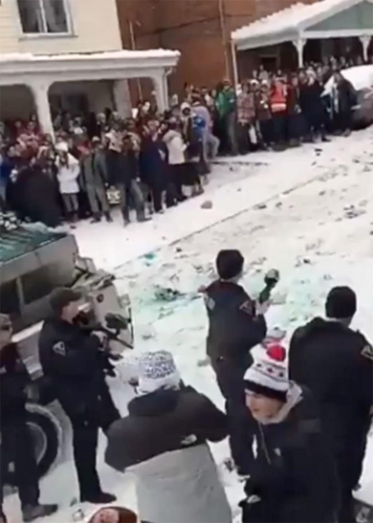 WVU students/police confrontation
