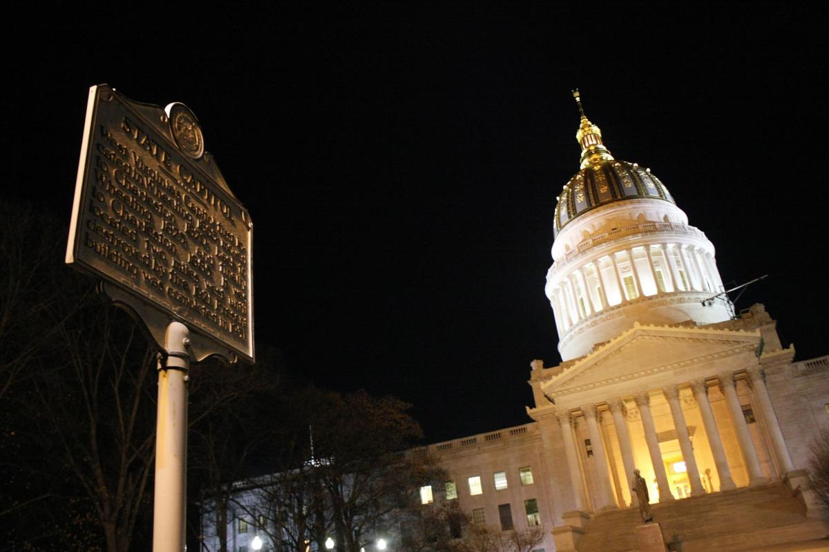 WV State Capitol at Night