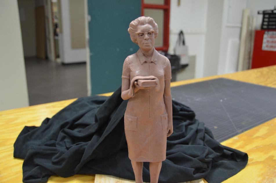 Artists work to place Hidden Figures lead Katherine Johnson statue