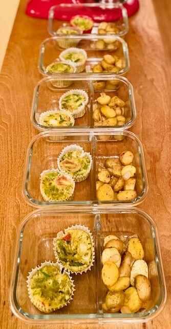 Mini Frittatas with Roasted Potatoes