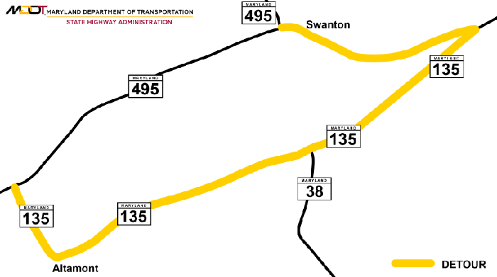 Drainage improvements underway on Md  495 at Swanton | News